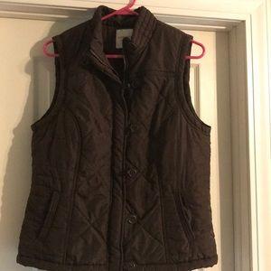 Brown Fleece-lined Vest